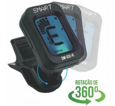 Afinador Violão Guitarra Baixo Cromático Digital Clip Smart SM03/4