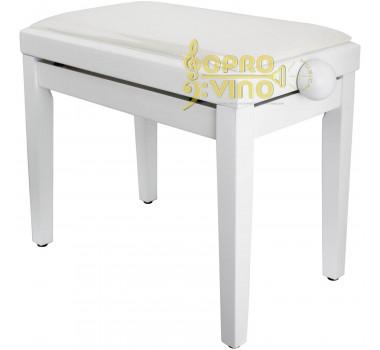 Banco para Piano Órgão Teclado Elegance Confortável Branco Saty BP80B