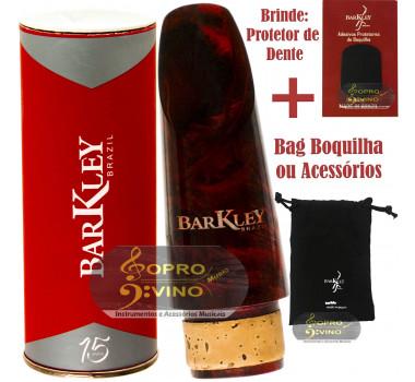 Boquilha Clarinete Barkley Prima 55 Vermelha Preta Bag Protetor Brindes