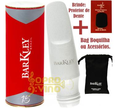 Boquilha Sax Tenor Barkley Vintage 8 Zz Branca Ébano Bag Protetor Brindes