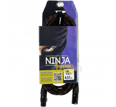 Cabo 4.57mts Conectores XLR Macho + XLR Fêmea Santo Angelo Ninja LW TX ( Textil )
