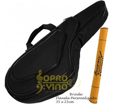 Capa Bag Sax Alto Extra Luxo com Bolsos Cor Preto LP Bags Brinde Flanela