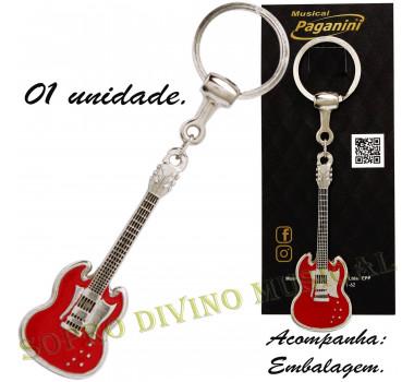Chaveiro Guitarra Metal Formato Paganini