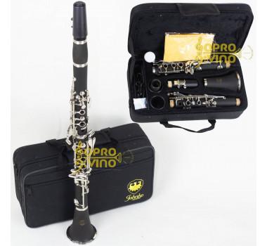Clarinete Sib 17 Chaves Niqueladas c/ Estojo e Acessórios Jahnke JCC0001-NQ