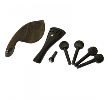Conjunto Violino 4/4 Cravelhas Queixeira Estandarte Pino Madeira Ébano Standard ( Kit c/ 06 Itens ) Jahnke