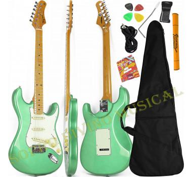 Guitarra Stratocaster Surf Green ( Verde ) Série Woodstock TG 530 Tagima Brinde Capa + Acessórios