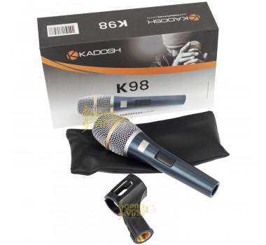 Microfone c/ Fio de Mão Kadosh K98 Dinâmico Cod. 27959