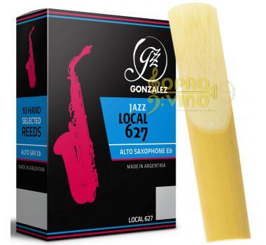 Palheta Sax Alto Gonzalez Local Jazz 627 Corte Unfiled
