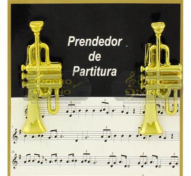 Prendedor Partitura Hinário Clipet Trompete Cornet Paganini