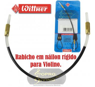 Rabicho Violino 3/4 ou 4/4 Nailon Rigido Wittner Alemão