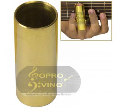 Slide Metal Laqueado Longo 6cm para Violão Guitarra Baixo Torelli