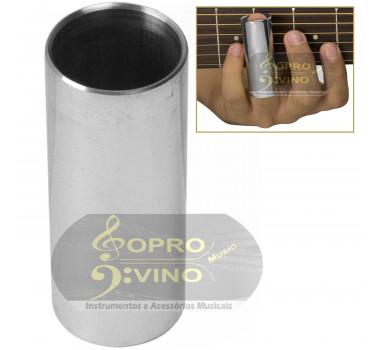 Slide Metal Cromado Longo 6cm Violão Guitarra Baixo Torelli