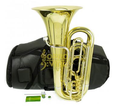 Tuba 3/4 Compacta Sib 4 Pistos Laqueado c/ Capa e Acessórios Weril Weingrill & Nirschl WNTU3