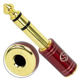 Plug Adaptador P2 / P10 Estéreo Dourado Vermelho Santo Angelo P2/P10ST VM