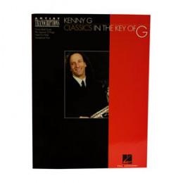 Álbum Kenny G Classics in the Key of G (Sol) com Caderno Transcrição