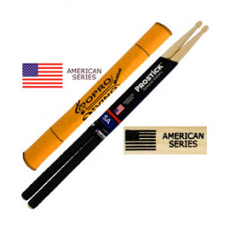 Baqueta 5A C/ GRIP Prostick American Series Hickory Par U.S.A Brinde Flanela