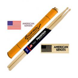 Baqueta 5A Prostick American Series Hickory Par U.S.A Brinde Flanela