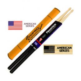 Baqueta 5B C/ GRIP Prostick American Series Hickory Par U.S.A Brinde Flanela