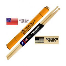 Baqueta 7A Prostick American Series Hickory Par U.S.A Brinde Flanela