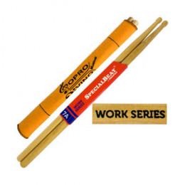Baqueta 7A Prostick Special Beat Work Series Marfim Par U.S.A Brinde Flanela