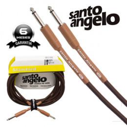 Cabo Santo Angelo Acoustic Series 4.57 Metros P10 + P10 Violão Guitarra Baixo Leve