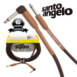 Cabo Santo Angelo Acoustic Series 4.57 Metros P10 + P10L Violão Guitarra Baixo Leve