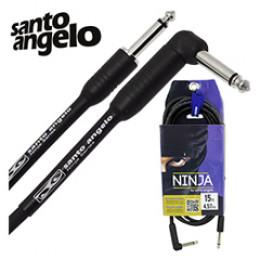 Cabo Santo Angelo Ninja 4.57 Metros P10 + P10L Violão Guitarra Baixo