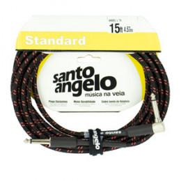 Cabo 4.57mts Conectores P10 + P10 L Santo Angelo L TX ( Textil ) Cor Vermelho