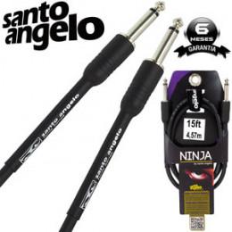 Cabo Santo Angelo Ninja 4.57mts P10 + P10 Violão Guitarra Baixo Teclado