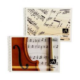 Caderno de Música Espiral Capa Flexível 1/4 Académie