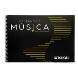 Caderno de Música c/ Endecagrama 50 Folhas Tokai