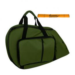Capa Bag Trompa Extra Luxo com Bolsos Cor Verde LP Bags Brinde Flanela