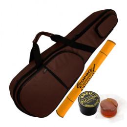 Capa Bag Violino Extra Luxo com Bolsos Cor Marrom LP Bags Brinde Flanela