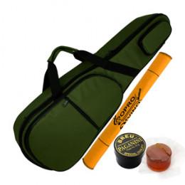 Capa Bag Viola de Arco Extra Luxo com Bolsos Cor Verde LP Bags Brinde Flanela