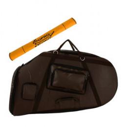 Capa Tuba Hoyden 50ML Quasar QTU703 PVC Emborrachado Marrom Pelúcia Alta Qualidade Protection Bags