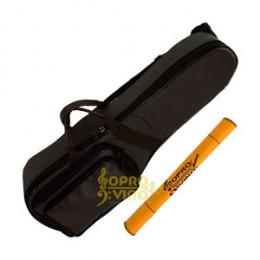 Capa Violino 3/4 ou 4/4 PVC Emborrachado Marrom Pelucia Alta Qualidade Protection Bags