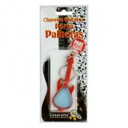 Chaveiro Porta Palhetas Formato Guitarra Vermelho Casarotto Cód. 54