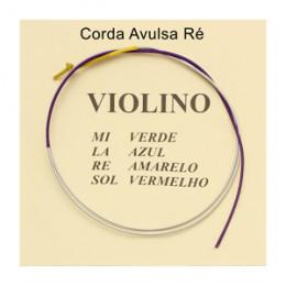 Corda Ré Avulsa Violino Mauro Calixto Tradicional 3º Corda