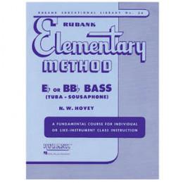 Método Tuba Bombardão Sinfônica Sousafone Mib / Sib Rubank Elementary Method Eb or BBb Bass