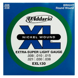 Encordoamento Guitarra .008 Extra Super Light Daddario EXL130