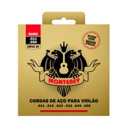 Encordoamento Violão Aço .011 / .050 Ouro Monterey EMVA20 by Solez Strings