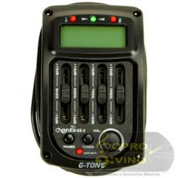 Equalizador Afinador 4 Banda Violão Cherub Gtone Deval Cod GS3
