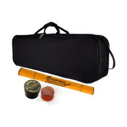 Estojo Case Violino 3/4 4/4 Nylon Veludo Azul Retangular Protection Bags