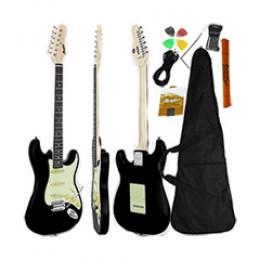 Guitarra Stratocaster Preto Fosco Memphis By Tagima MG30 Capa + Acessórios