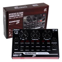 Interface USB Bluetooth Áudio (12 Efeitos) Sound Voice Lite Soundcasting 300
