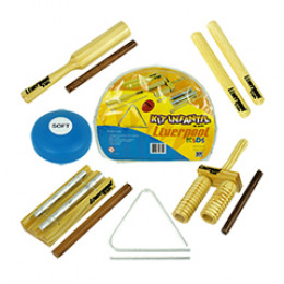 Kit Musicalização Infantil c/ 06 Instrumentos Percussão C/ Bolsa Liverpool kids INF01