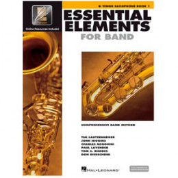 Método Sax Tenor Livro Essential Elements for Band Interactive Book 1 ( Livro 1 )