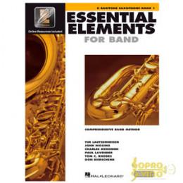 Método Sax Barítono Livro Essential Elements for Band Interactive Book 1 ( Livro 1 )
