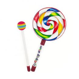 Lollipop Drum 15cm Pele Remo Kids® Inicialização Musical