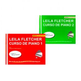 Kit Método Leila Fletcher Curso de Piano Course 1 e 2 + Audios